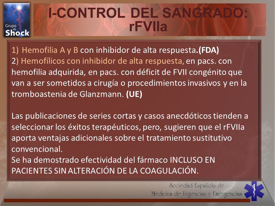 I-CONTROL DEL SANGRADO: