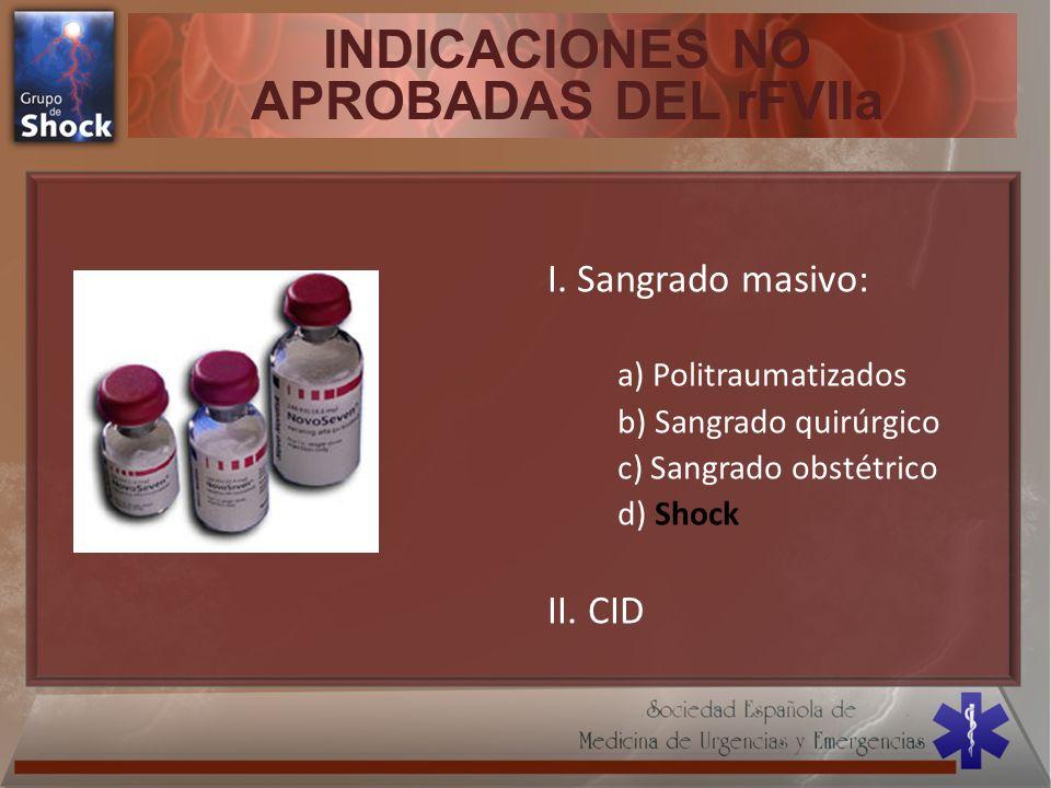 INDICACIONES NO APROBADAS DEL rFVIIa
