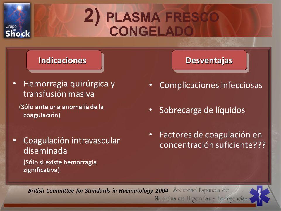 2) PLASMA FRESCO CONGELADO
