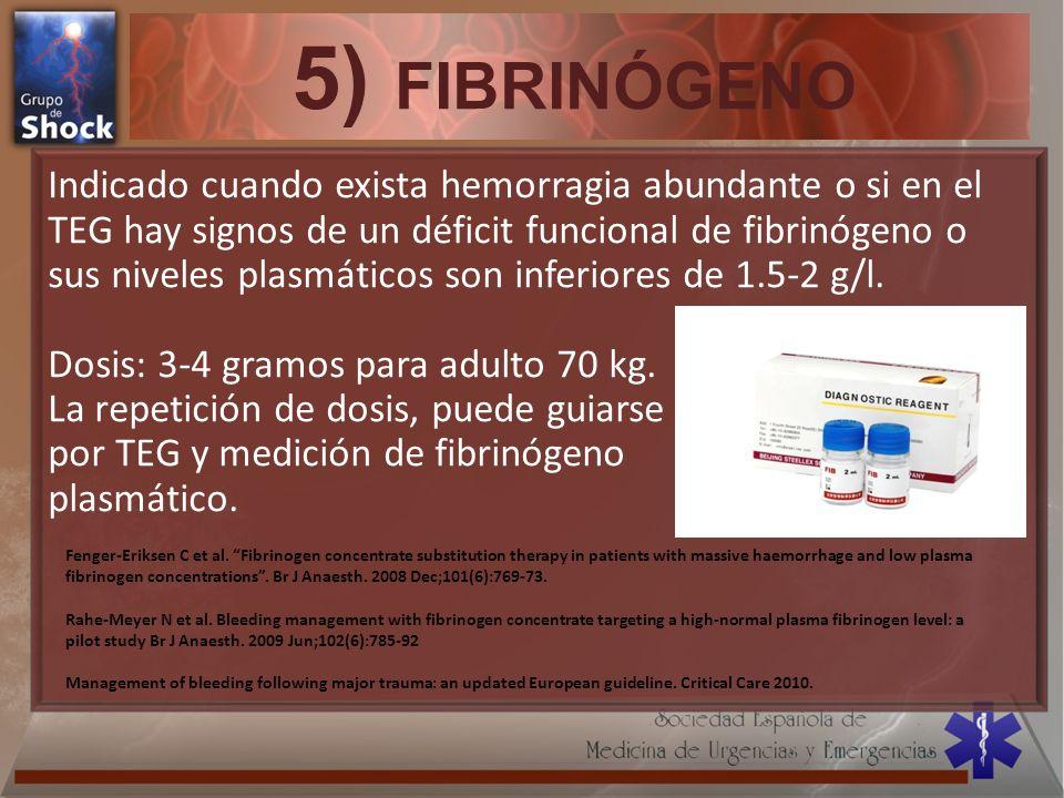 5) FIBRINÓGENO