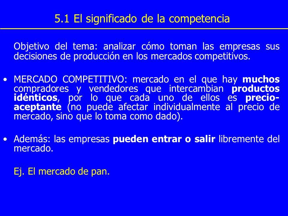 5.1 El significado de la competencia