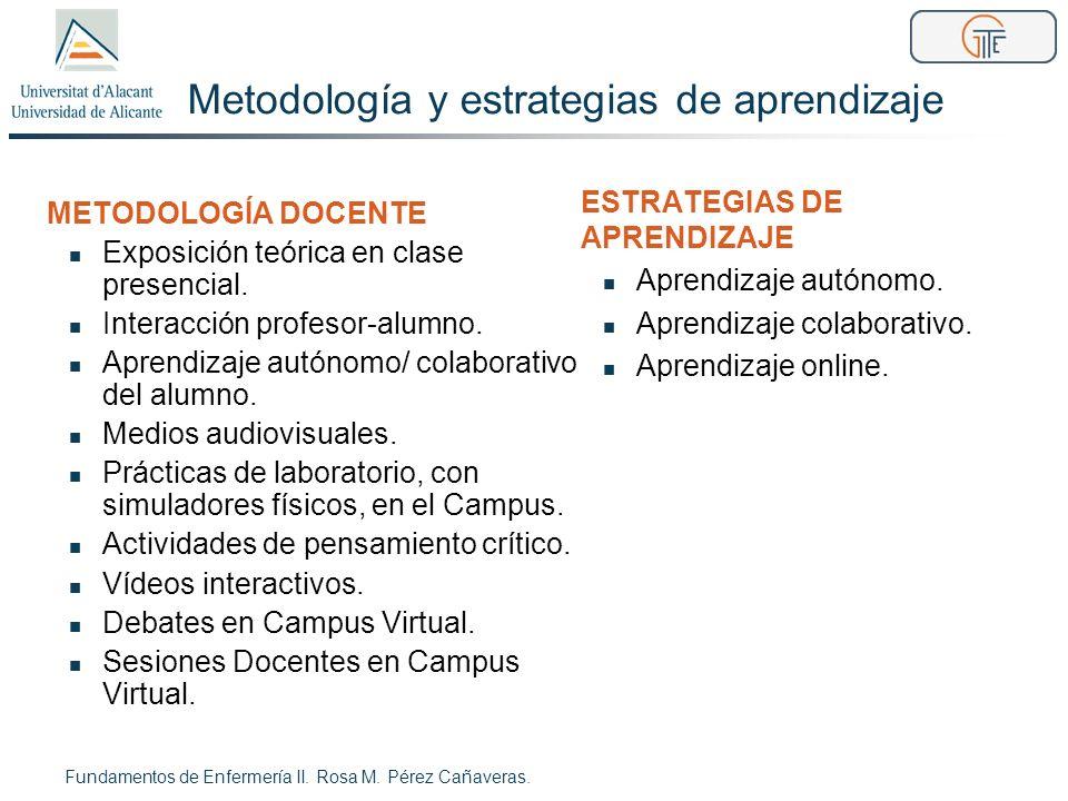 Metodología y estrategias de aprendizaje