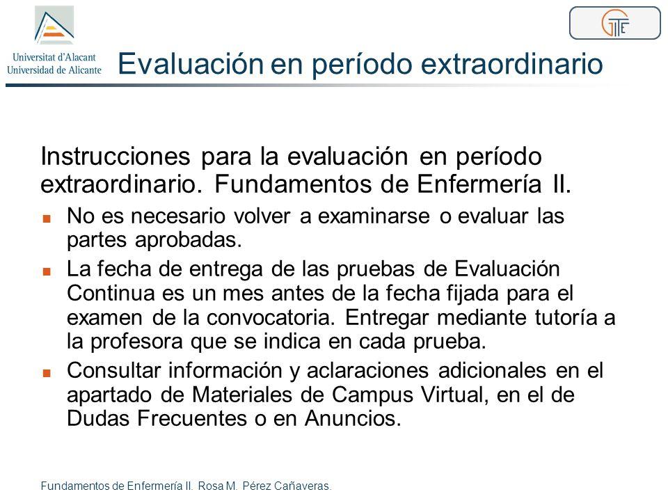 Evaluación en período extraordinario