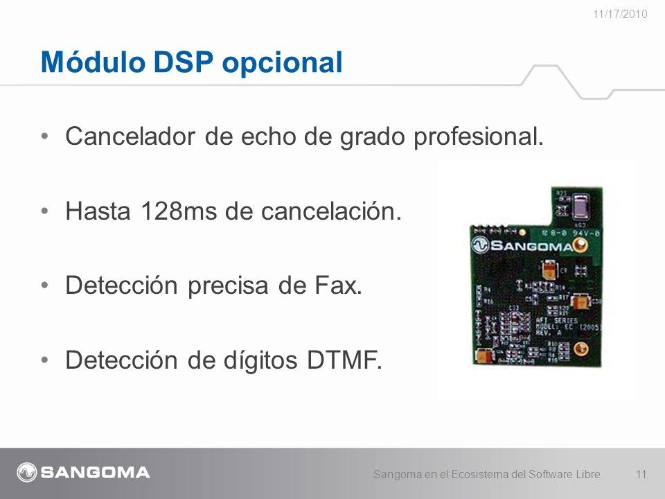 Módulo DSP opcional Cancelador de echo de grado profesional.