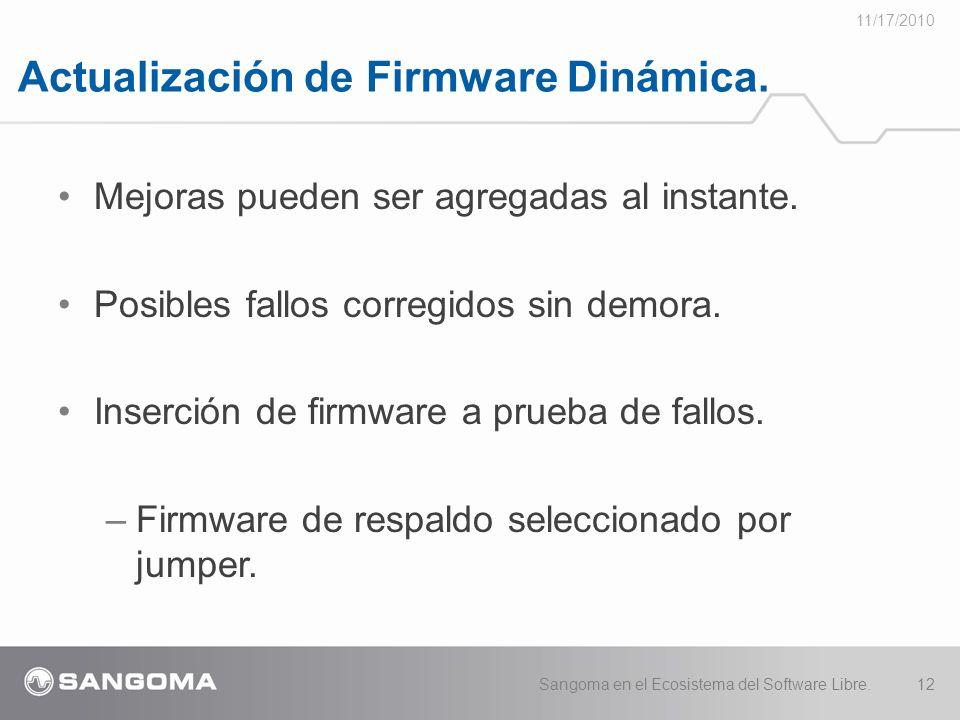 Actualización de Firmware Dinámica.