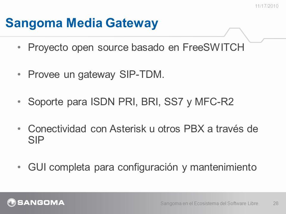 Sangoma Media Gateway Proyecto open source basado en FreeSWITCH