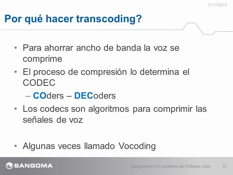 Por qué hacer transcoding