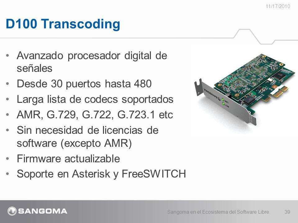 D100 Transcoding Avanzado procesador digital de señales