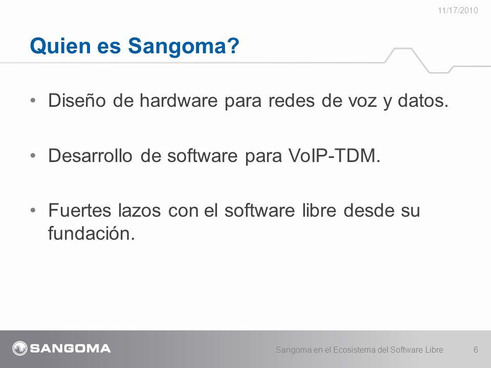 Quien es Sangoma Diseño de hardware para redes de voz y datos.