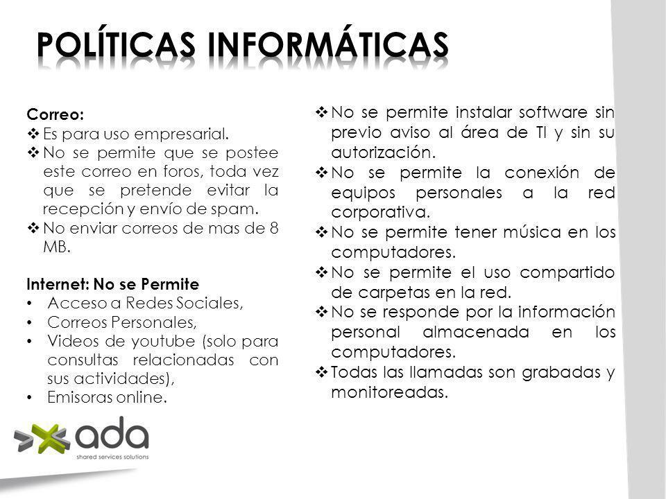 POLÍTICAS INFORMÁTICAS