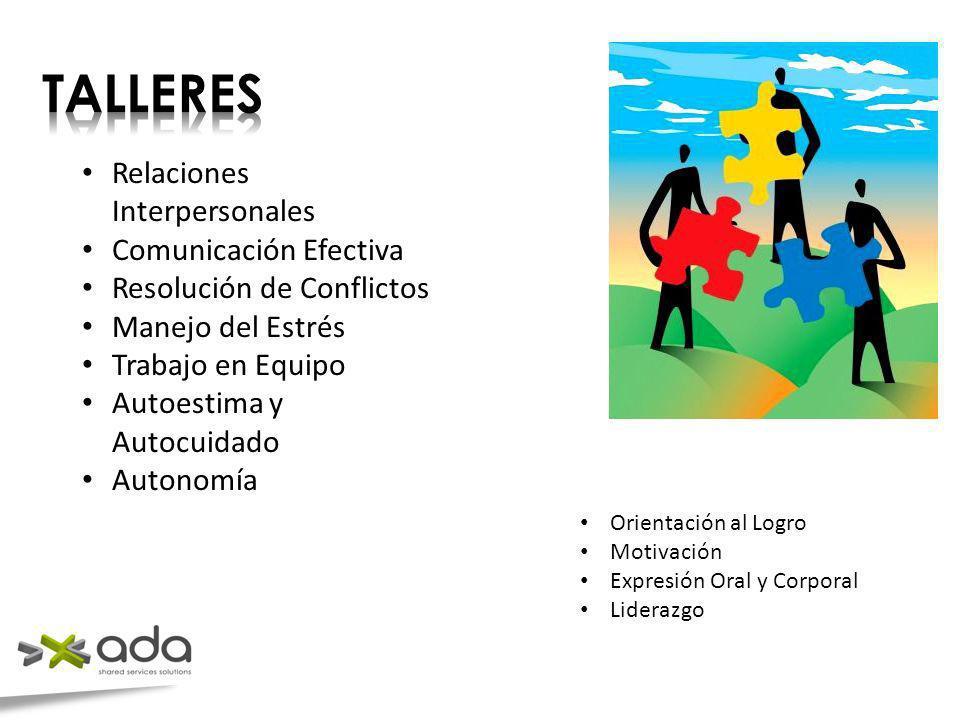TALLERES Relaciones Interpersonales Comunicación Efectiva