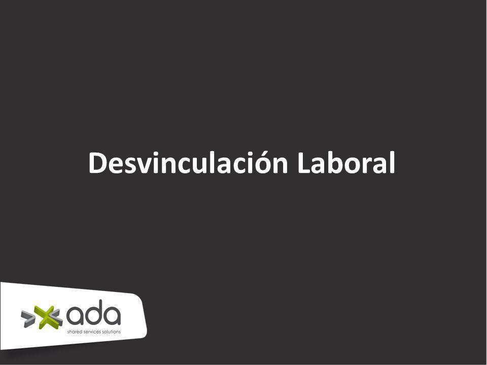 Desvinculación Laboral