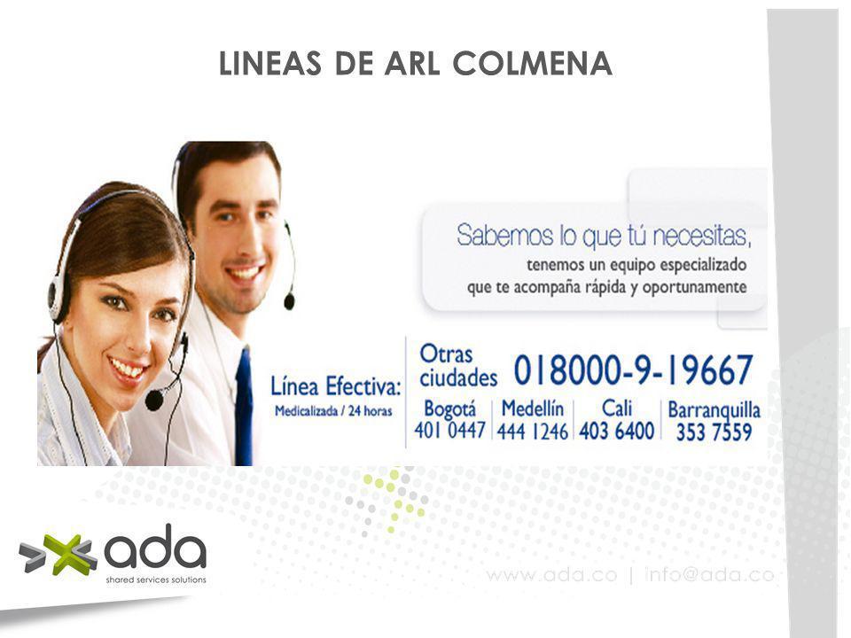 LINEAS DE ARL COLMENA