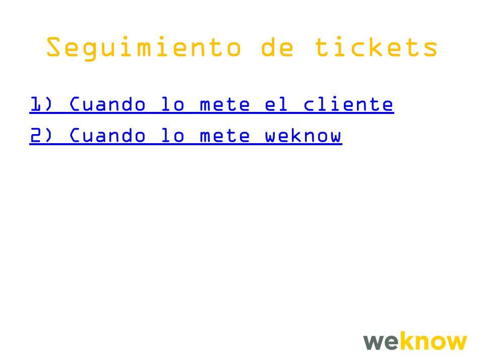Seguimiento de tickets