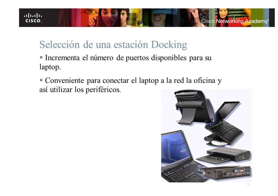 Selección de una estación Docking