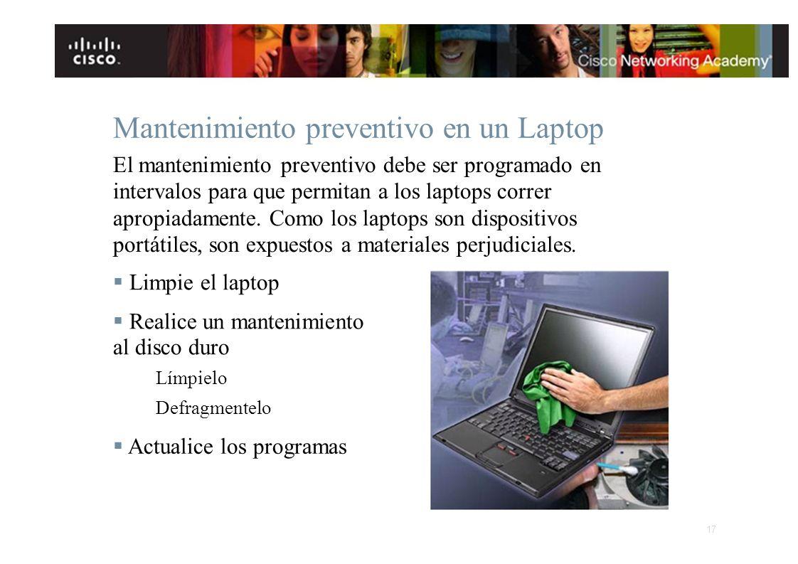 Mantenimiento preventivo en un Laptop