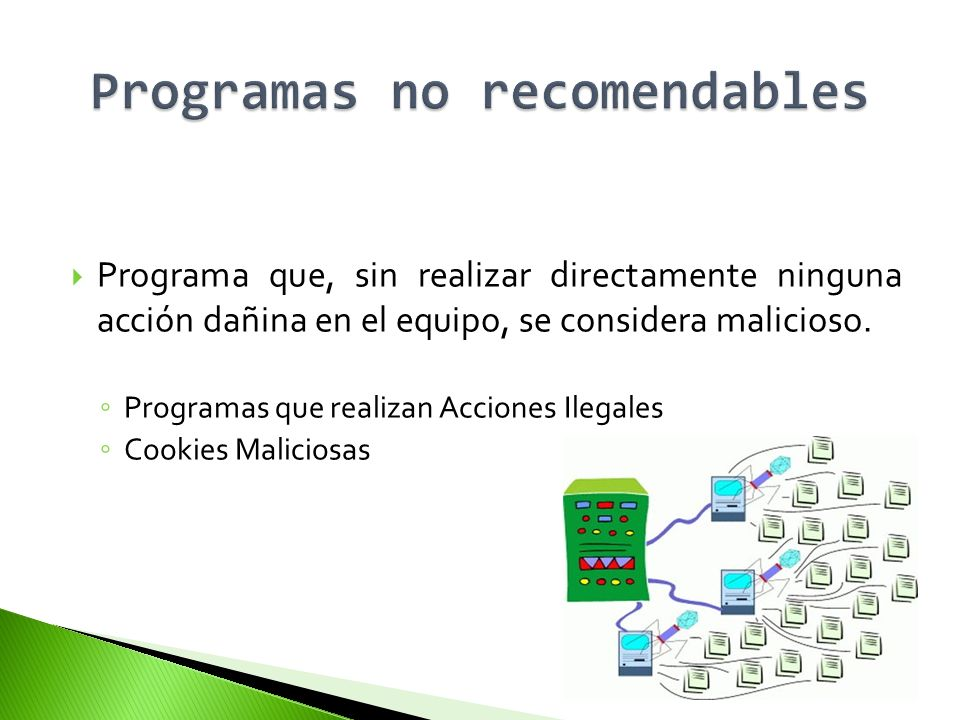 Programas no recomendables