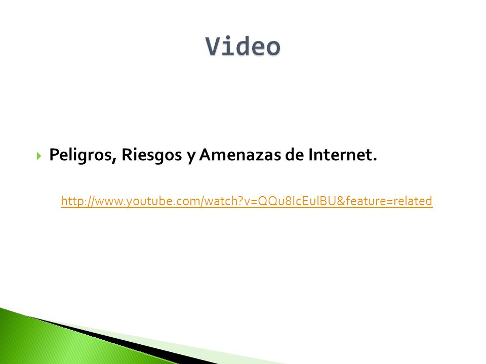 Video Peligros, Riesgos y Amenazas de Internet.