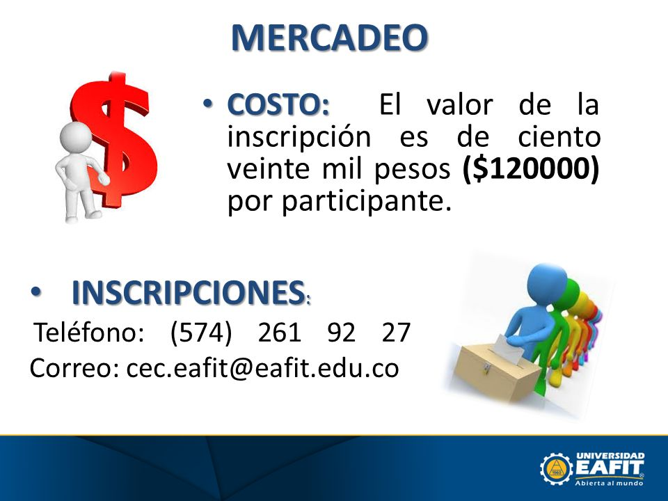 MERCADEO INSCRIPCIONES: