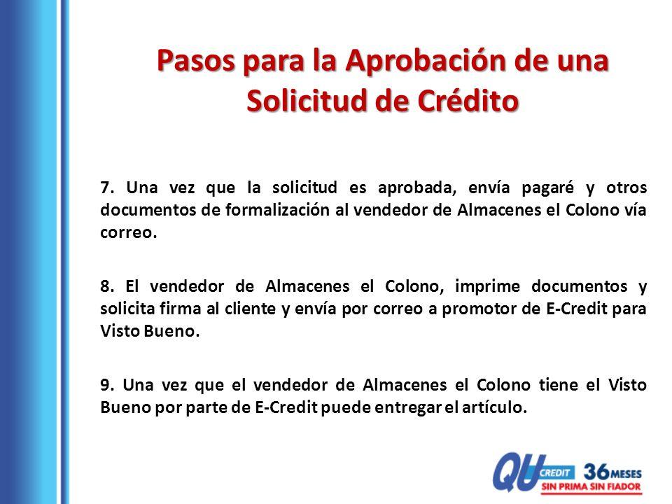 Pasos para la Aprobación de una Solicitud de Crédito