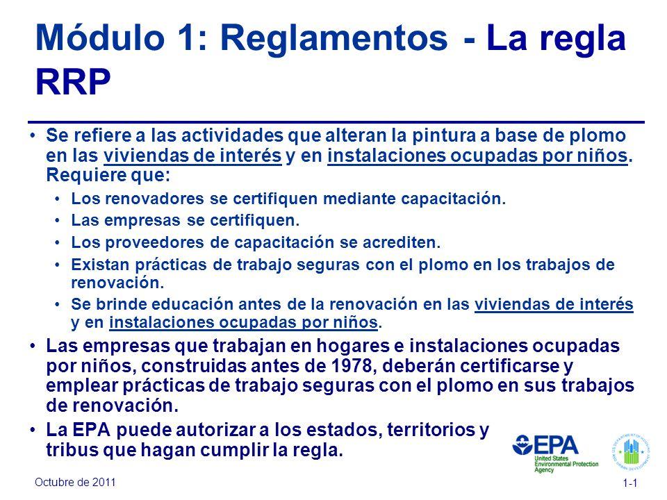 Módulo 1: Reglamentos - La regla RRP