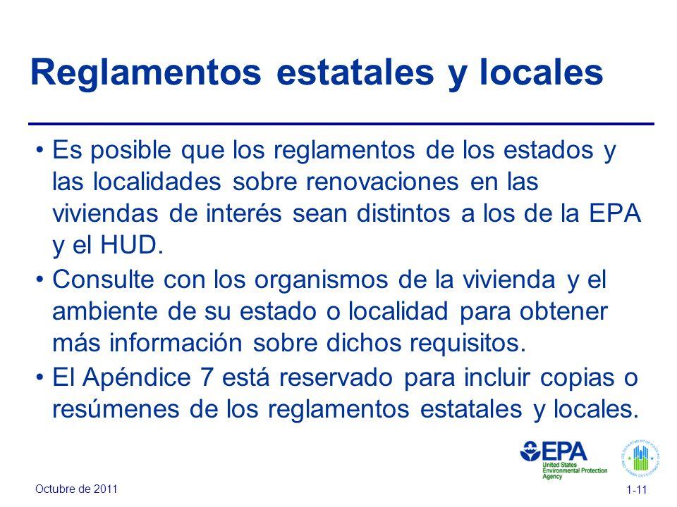 Reglamentos estatales y locales
