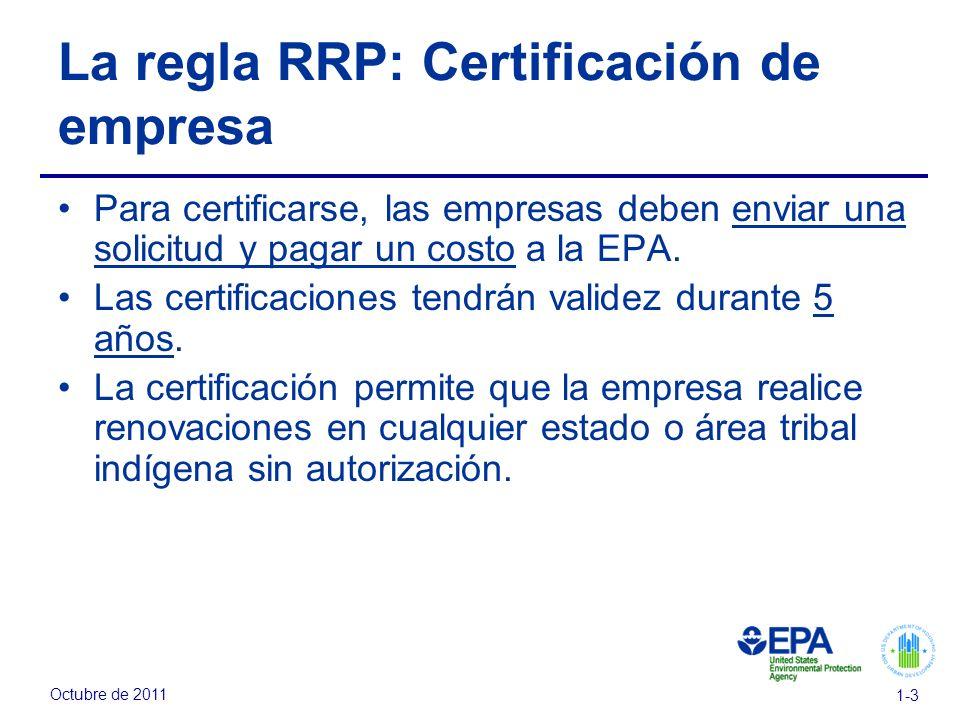 La regla RRP: Certificación de empresa