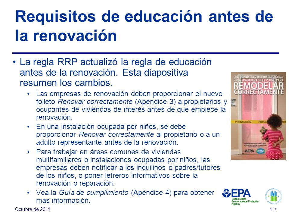 Requisitos de educación antes de la renovación
