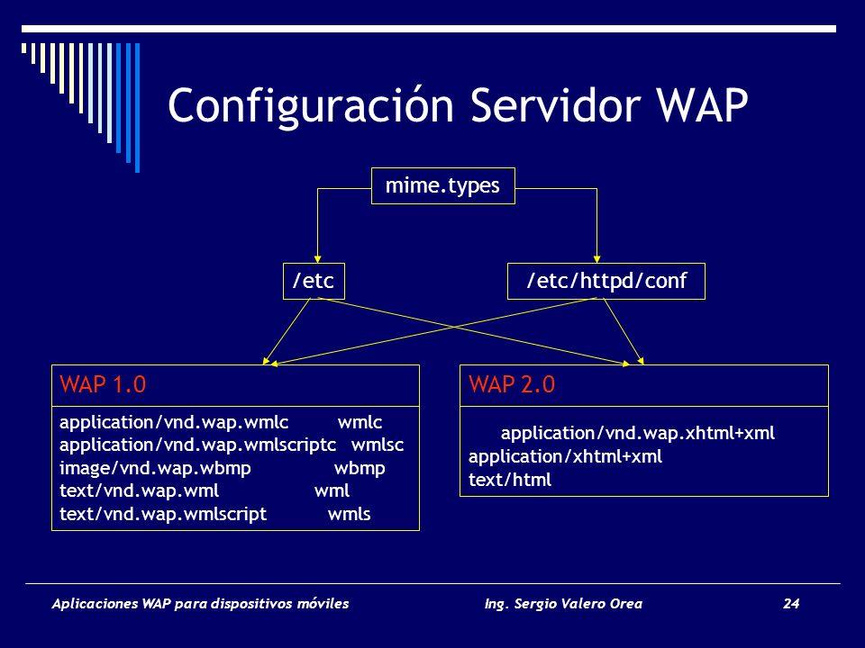 Configuración Servidor WAP