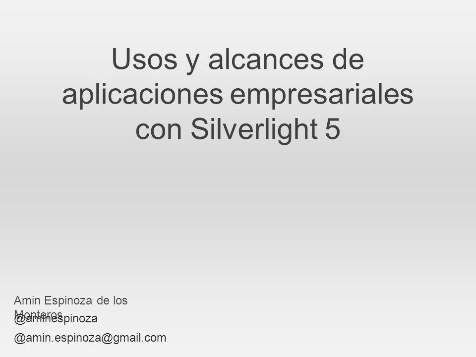 Usos y alcances de aplicaciones empresariales con Silverlight 5
