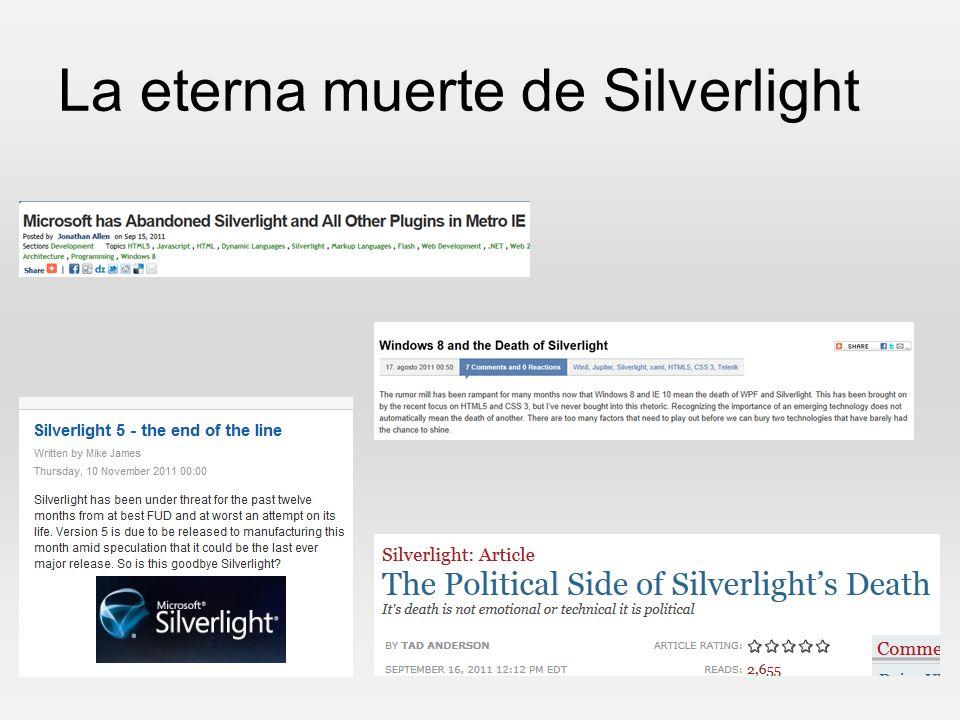 La eterna muerte de Silverlight
