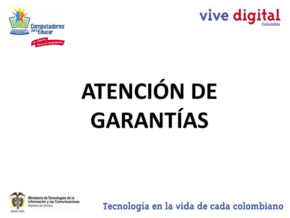 ATENCIÓN DE GARANTÍAS