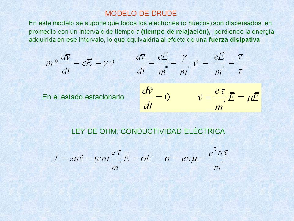 LEY DE OHM: CONDUCTIVIDAD ELÉCTRICA
