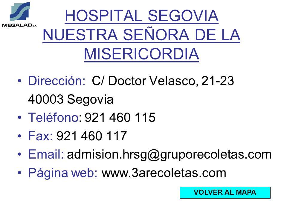 HOSPITAL SEGOVIA NUESTRA SEÑORA DE LA MISERICORDIA