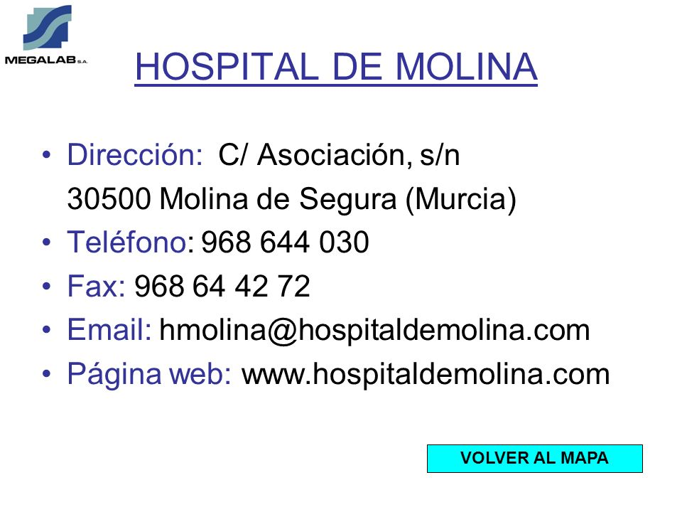 HOSPITAL DE MOLINA Dirección: C/ Asociación, s/n