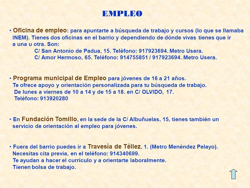 EMPLEO Oficina de empleo: para apuntarte a búsqueda de trabajo y cursos (lo que se llamaba.