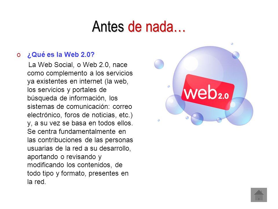 Antes de nada… ¿Qué es la Web 2.0