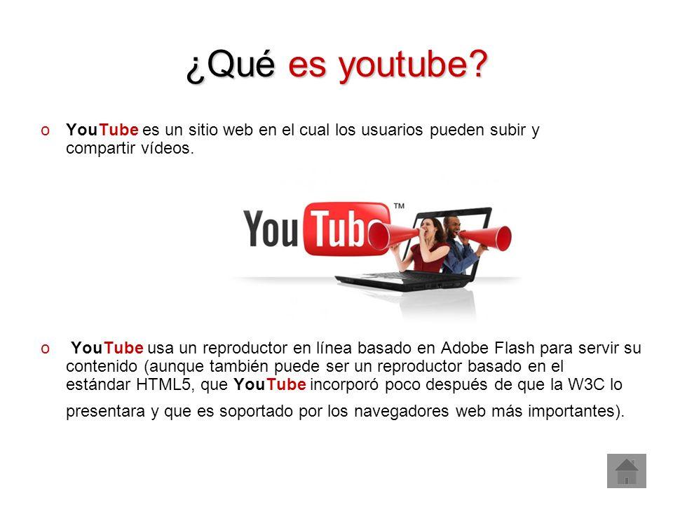 ¿Qué es youtube YouTube es un sitio web en el cual los usuarios pueden subir y compartir vídeos.