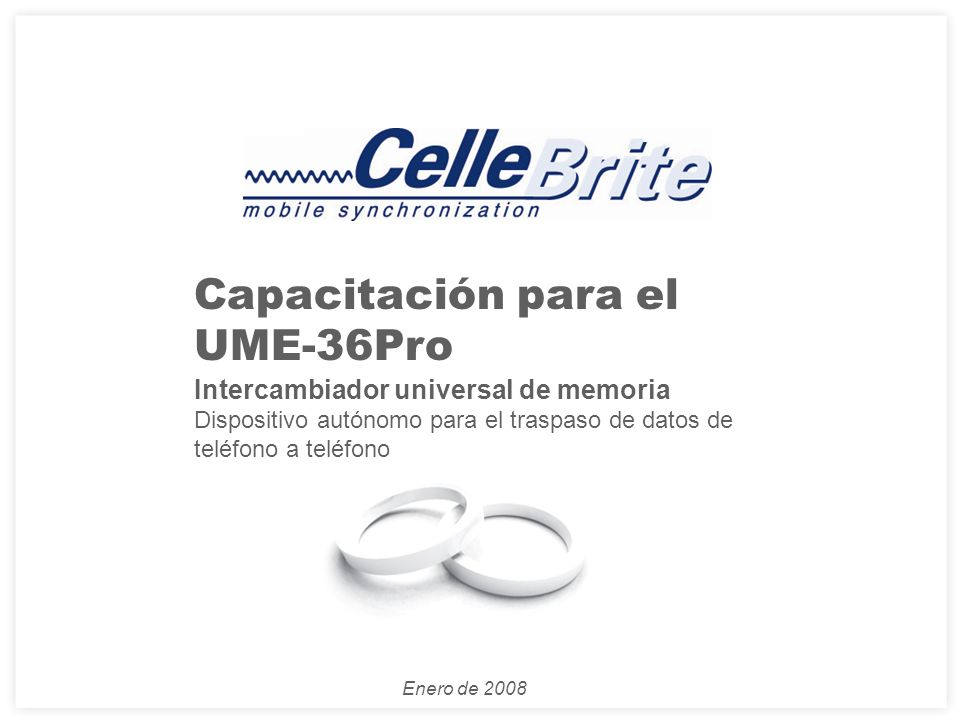 Capacitación para el UME-36Pro