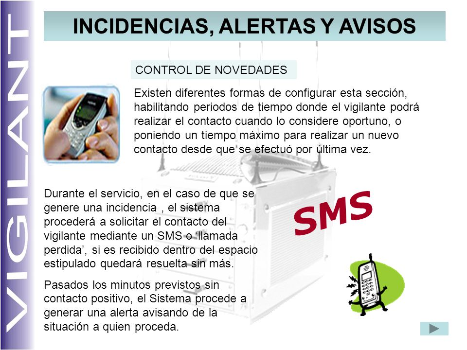 INCIDENCIAS, ALERTAS Y AVISOS