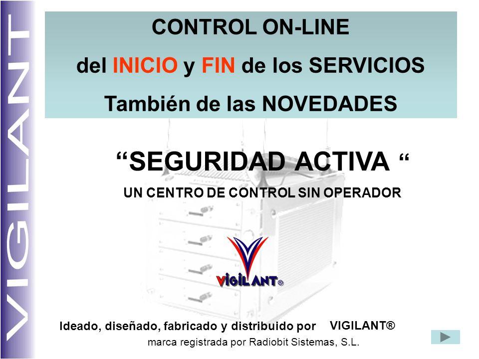 SEGURIDAD ACTIVA CONTROL ON-LINE del INICIO y FIN de los SERVICIOS