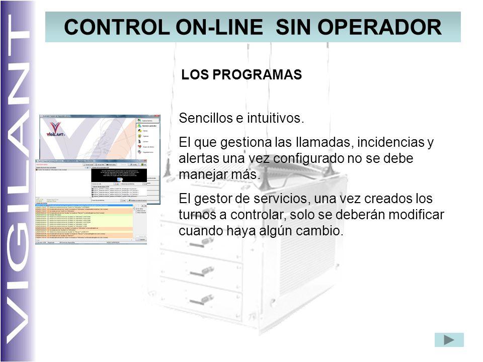 CONTROL ON-LINE SIN OPERADOR