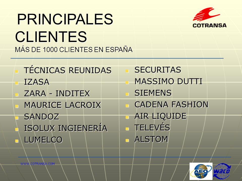 TÉCNICAS REUNIDAS SECURITAS IZASA MASSIMO DUTTI ZARA - INDITEX SIEMENS