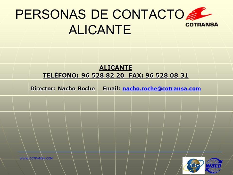 PERSONAS DE CONTACTO ALICANTE