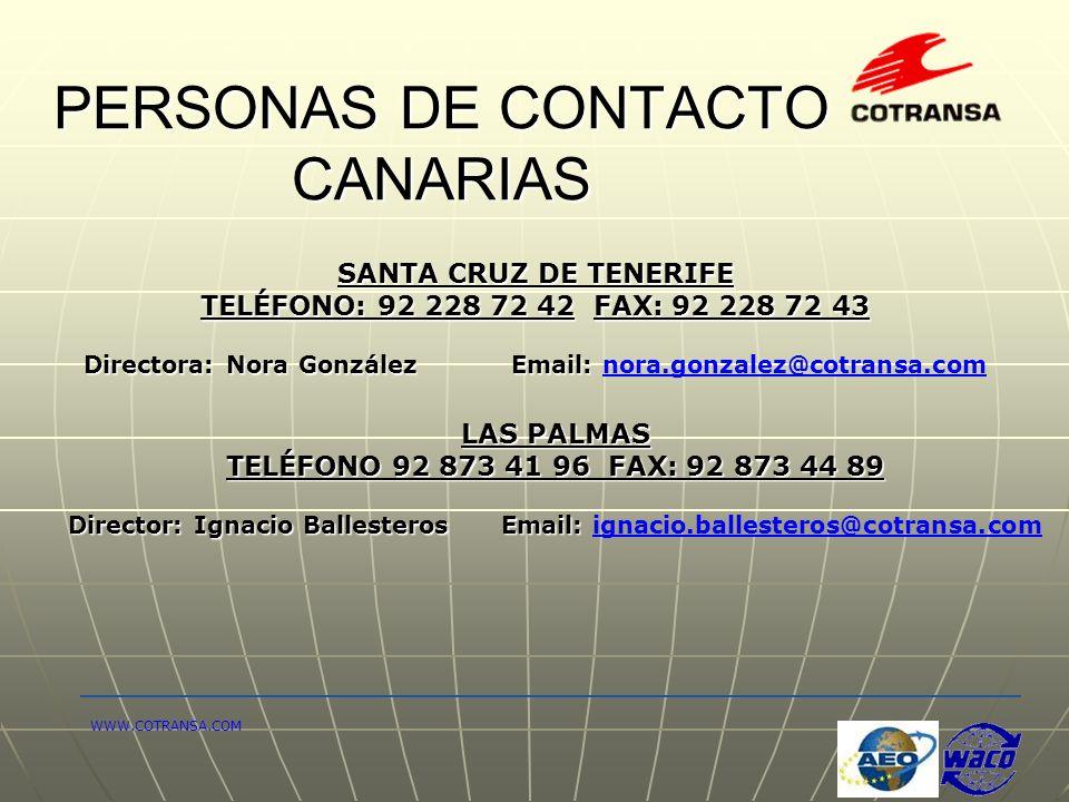 PERSONAS DE CONTACTO CANARIAS