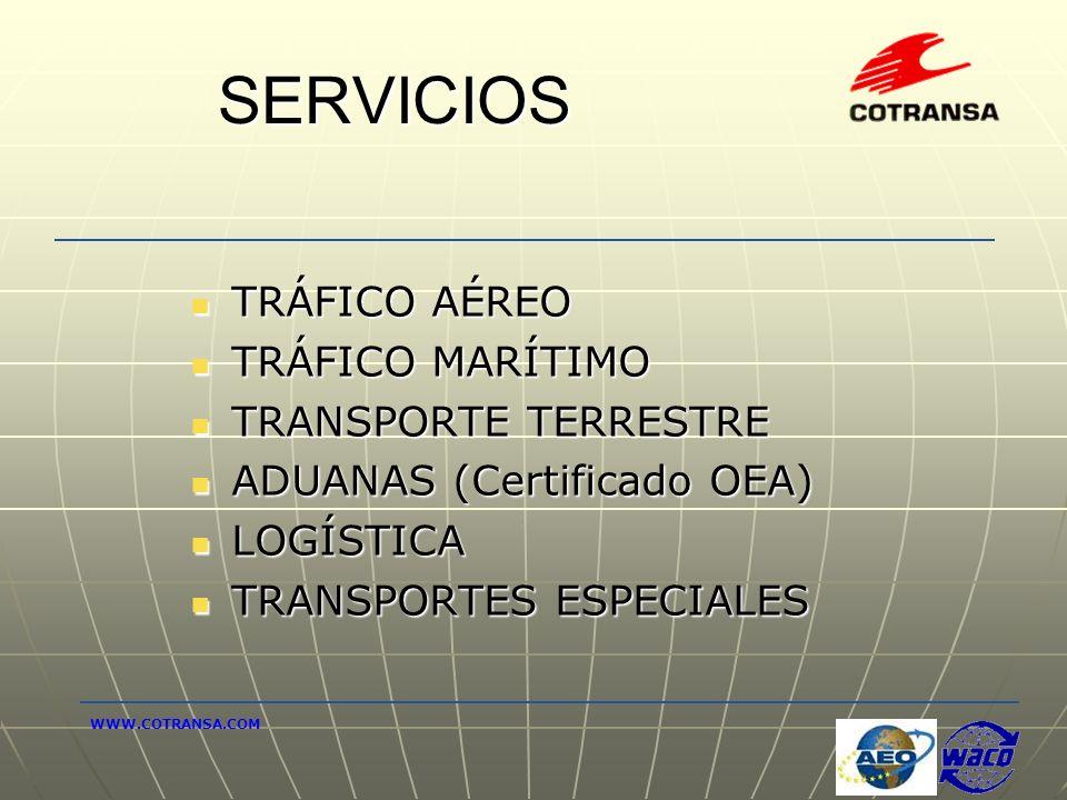 SERVICIOS TRÁFICO AÉREO TRÁFICO MARÍTIMO TRANSPORTE TERRESTRE