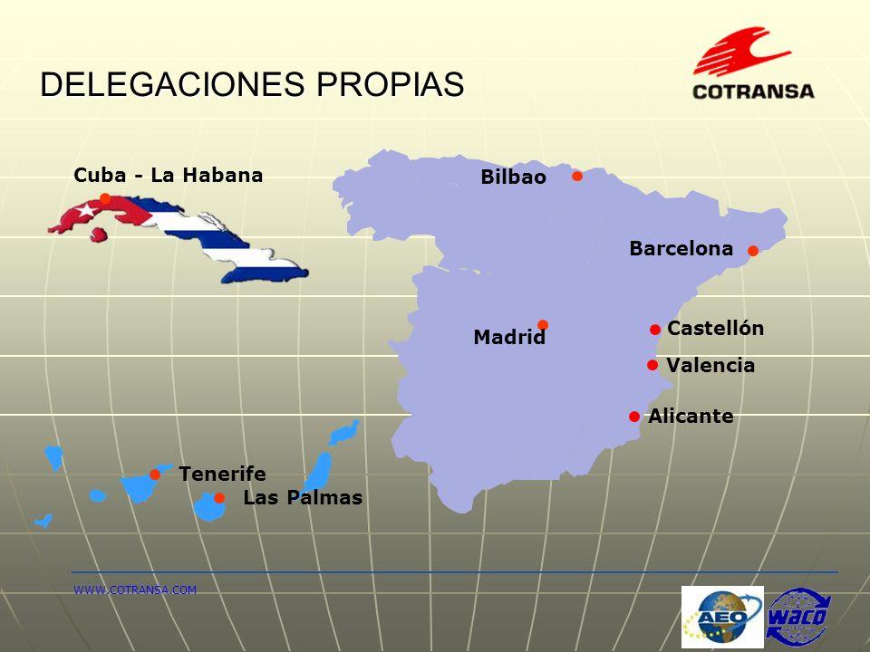 DELEGACIONES PROPIAS Cuba - La Habana Bilbao Barcelona Castellón
