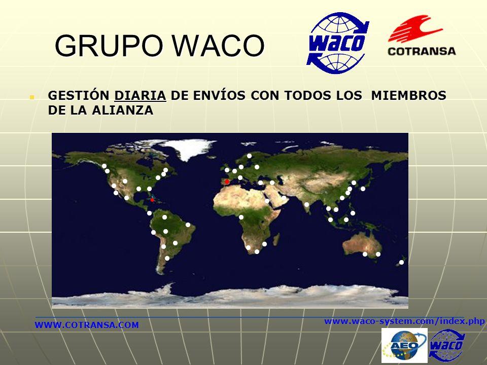 GRUPO WACO GESTIÓN DIARIA DE ENVÍOS CON TODOS LOS MIEMBROS DE LA ALIANZA. www.waco-system.com/index.php.