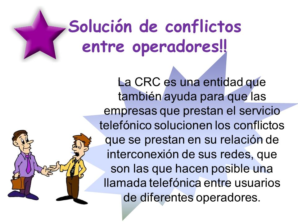 Solución de conflictos entre operadores!!