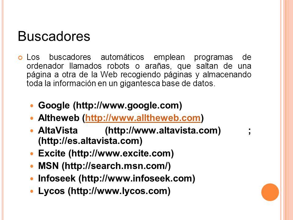Buscadores Google (http://www.google.com)